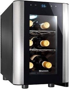 Wine Enthusiast 6-Bottle Countertop Smallest Wine Cooler